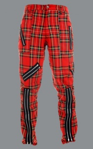 Kalhoty TIGER OF LONDON tartan red