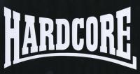 Zádovka HARDCORE bow nápis
