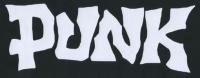 Zádovka PUNK gritty nápis