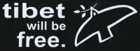 Zádovka TIBET will be free nápis