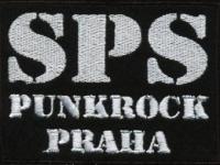 Nášivka SPS punkrock Praha bílá vyšívaná