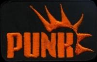 Nášivka PUNK orange cheero vyšívaná
