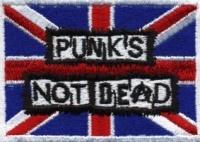 Nášivka PUNK´S NOT DEAD Brit vyšívaná