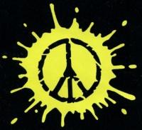 Nášivka PEACE yellow
