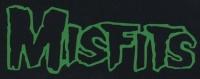 Nášivka MISFITS nápis green