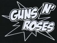 Nášivka GUNS N´ROSES bílá