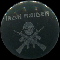 Placka 25 IRON MAIDEN guns silver