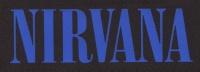 Nášivka NIRVANA nápis modrý