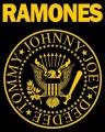 Samolepka RAMONES logo yellow