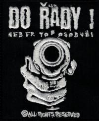 Nášivka DO ŘADY! gun vyšívaná