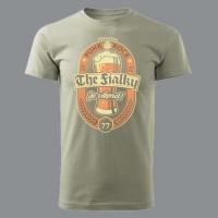 Tričko THE FIALKY je víkend khaki