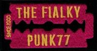 Nášivka THE FIALKY žiletka růžová vyšívaná zažehlovací