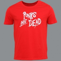 Tričko PUNK´S NOT DEAD clas red