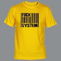 Tričko FUCK SYSTEM code yellow