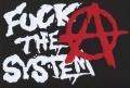 Zádovka FUCK THE SYSTEM áčko