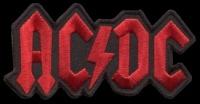 Nášivka AC/DC red vyšívaná zažehlovací