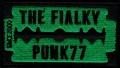 Nášivka THE FIALKY žiletka zelená vyšívaná zažehlovací