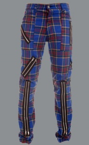 Kalhoty TIGER OF LONDON tartan blue