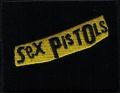 Nášivka SEX PISTOLS yellow vyšívaná zažehlovací