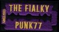Nášivka THE FIALKY žiletka fialová vyšívaná zažehlovací