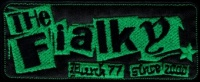 Nášivka THE FIALKY punk 77 zelená vyšívaná zažehlovací
