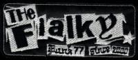Nášivka THE FIALKY punk 77 bílá vyšívaná zažehlovací