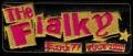 Nášivka THE FIALKY punk 77 žlutá vyšívaná zažehlovací