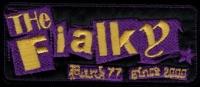 Nášivka THE FIALKY punk 77 fialová vyšívaná zažehlovací