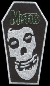 Nášivka MISFITS coffin vyšívaná zažehlovací