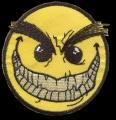 Nášivka ANGRY smile vyšívaná zažehlovací