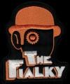 Nášivka THE FIALKY clockwork orange vyšívaná zažehlovací