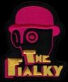 Nášivka THE FIALKY clockwork pink vyšívaná zažehlovací