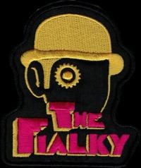 Nášivka THE FIALKY clockwork yellow vyšívaná zažehlovací