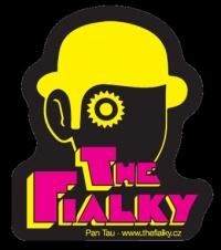 Samolepka THE FIALKY clockwork yellow