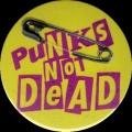 Placka 37 PUNK´S NOT DEAD yellow