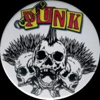 Placka 37 PUNK skulls