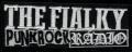 Nášivka THE FIALKY punk rock rádio white vyšívaná zažehlovací