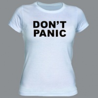 Tričko DON´T PANIC white dámské