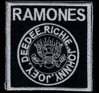 Nášivka RAMONES vyšívaná zažehlovací