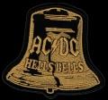 Nášivka AC/DC gold vyšívaná zažehlovací