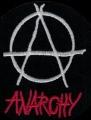 Nášivka ÁČKO anarchy kulatá vyšívaná zažehlovací