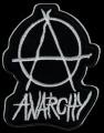 Nášivka ÁČKO anarchy bw vyšívaná zažehlovací