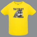 Tričko THE FIALKY punk rock rádio žluté dětské