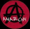 Nášivka ÁČKO anarchy red vyšívaná