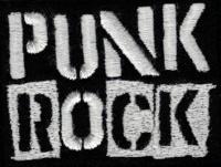 Nášivka PUNK ROCK vyšívaná