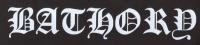 Zádovka BATHORY nápis