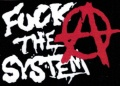Samolepka FUCK THE SYSTEM áčko