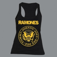 Tílko RAMONES kruh yellow dámské