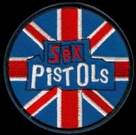 Nášivka SEX PISTOLS flag round vyšívaná zažehlovací