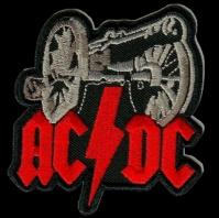 Nášivka AC/DC for those vyšívaná zažehlovací